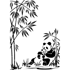 Stickers Salle De Bain Bambou by Stickers Panda Bambou Pas Cher