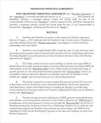 real estate operating agreement notes mortgages operating