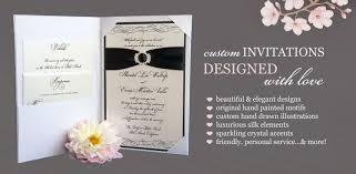 Custom Invitation Brenna Catalano Design Studio Custom Handmade Wedding Invitations