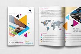 print brochure templates print shop brochure template 12 pages