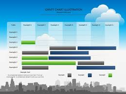 Best Free Excel Gantt Chart Template Colorful Gantt Chart Presentation Template Chart Timeline