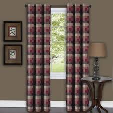 achim harvard burgundy curtain panel 84 inches red cotton