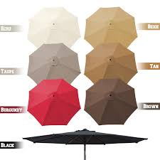 Patio Umbrella Covers Replacement by 9ft 8 Rib Patio Umbrella Cover Canopy Replacement Parasol Top
