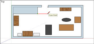 Floor Plan In Sketchup Adjusting The Drawing Axes Sketchup Knowledge Base