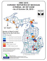 Michigan Zip Code Map by Emerging Disease Issues 2015 Surveillance Maps