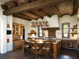 this kitchen features unique elements such as a brick barrel vault