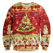 tree sweater pizza tree sweater pullover sleeve sweaters com