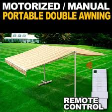 Awning Remote Control Amazon Com Deluxe Free Standing Portable Motorized Retractable