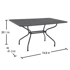 Metal Mesh Patio Furniture - royal garden ludwig rectangle patio dining table seats six