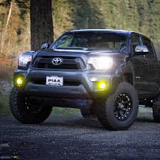 yellow toyota truck piaa h11 performance led bulb ion yellow 2800k twin pack 17502