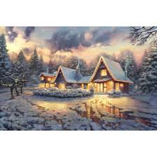 blessings of christmas u2013 limited edition art the thomas kinkade