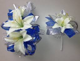 royal blue corsage royal blue corsage boutonniere set prom by florescencebydesign