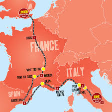 French Riviera Map London To Rome Tours London Coach Tours Expat Explore