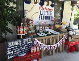 baseball baby shower welcome slugger babies