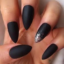 awesome black matte stiletto nail designs nailshairmakeup u0026tatts
