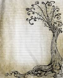free printable letter writing paper printable journal page lined paper pinterest stationery printable pen and ink tree drawing lined journal page digital lined writing paper digital stationery tree paper paper supplies
