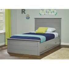 Mainstays Storage Bed With Headboard Mainstays Kyle Twin Mates Bed With Headboard Slate Grey Walmart Com