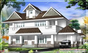 kerala home design 2012 western model 4 bedroom house design house design plans