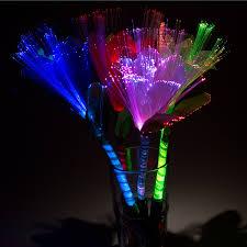 rainbow led fiber optic flower set of 2 health