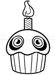 cupcake coloring pages to print fnaf coloring pages printable alltoys for
