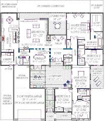 modern floor plans for homes excellent ultra modern house plans with three car tandem garage