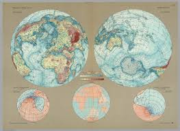 Magnetic Declination Map World Physical Pergamon World Atlas David Rumsey Historical
