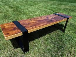 Wood Bench With Metal Legs 84 Best Furniture Images On Pinterest Bar Stool Ceviche