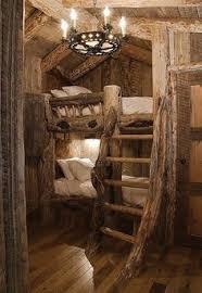 Bunk Room In Rustic Mountain Ski Lodge Builtin Bunks Ski Lodge - History of bunk beds
