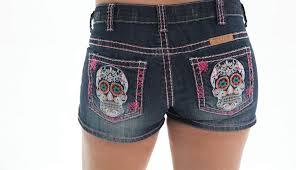 womens boots or dead tuff s day of the dead sugar skull shorts shskll