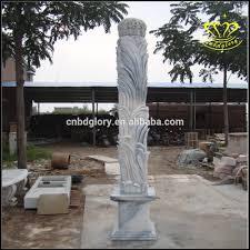White Marble Rocks For Landscaping by White Marble Stone Pillars European Style Garden Stone Pillars