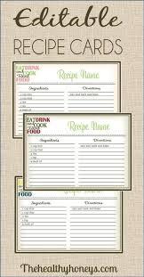 free printable christmas recipe cards christmas lights card and
