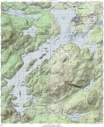 Topography Map Ny Route 30 The Adirondack Trail Tupper Lake Topographic Map