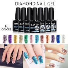 modelones shiny diamond nail gel polish colorful glitter gel