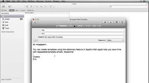 how to create apple mail templates youtube