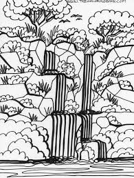 the most amazing along with beautiful rainforest coloring page
