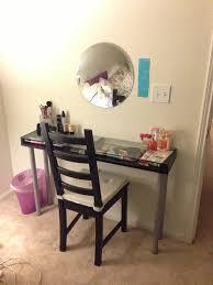 Diy Vanity Desk Diy Vanity Table Made From Ikea Parts Diy Pinterest Diy