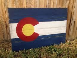 colorado flag rustic wood flag denver wall art colorado