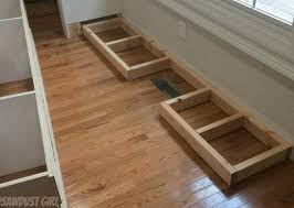 best way to install base cabinets how to install a cabinet base with a floor vent sawdust