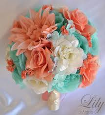 silk flower bouquets 17 package silk flower wedding bridal bouquets coral robin s