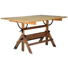 Hamilton Industries Drafting Table Vintage Articulated Oak And Maple Drafting Table By Hamilton At