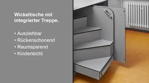 wickelkommode mit treppe schäfer trennwandsysteme wickeltisch mit integrierter treppe