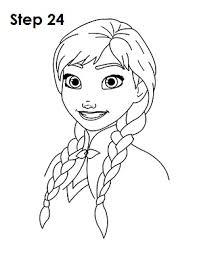coloring trendy frozen anna drawing draw 24 coloring