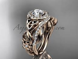 celtic wedding rings celtic wedding ring sets gold moissanite ring ct7300s
