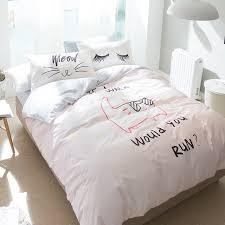 100 cotton cat print duvet cover set twin queen size bedding set