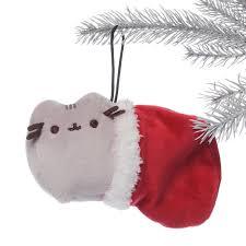 gund pusheen christmas hanging ornament santa hat