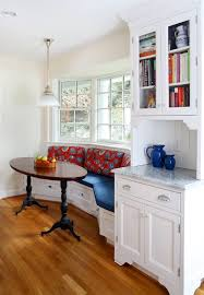 kitchen banquette seating with storage dining room traditional