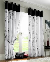 Black Grey And White Curtains Ideas Black And White Patterned Blackout Curtains Gopelling Net