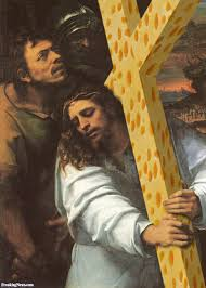 jesus carrying a cheese cross pictures freaking news