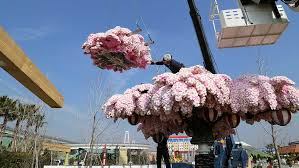 legoland creates cherry blossom tree 800 000 lego