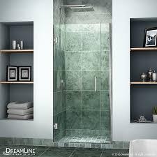 hinged glass shower doors dreamline unidoor 36 37 in width frameless hinged shower door 3